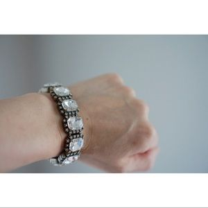 JCrew Crystal Stretch Bracelet